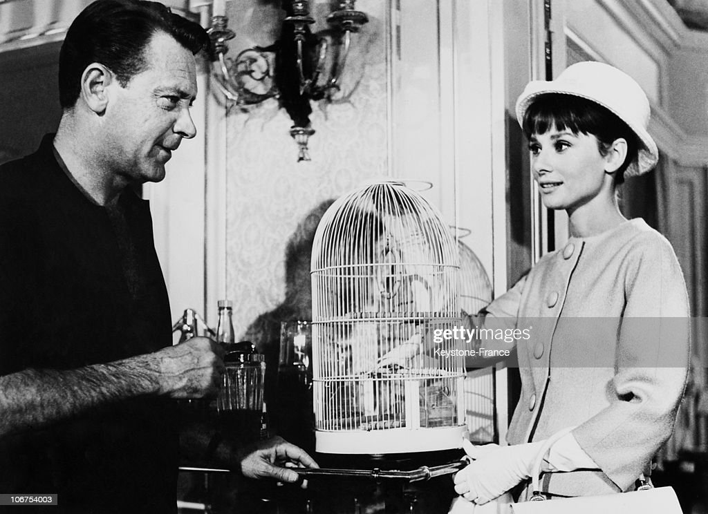Audrey Hepburn And William Holden During A Movie Scene. August 20Th 1962 : News Photo