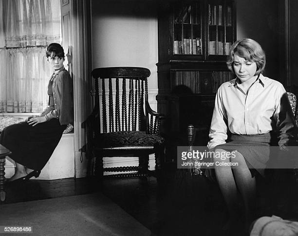 Audrey Hepburn as Karen Wright and Shirley MacLaine as Martha Dobie in The Children's Hour .