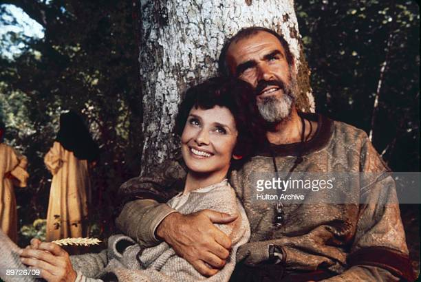 Audrey Hepburn as Lady Marian and Sean Connery as Robin Hood in Richard Lester's 'Robin And Marian 1976