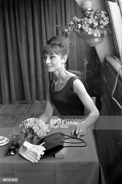 Audrey Hepburn British actress Paris 1964 HA2225