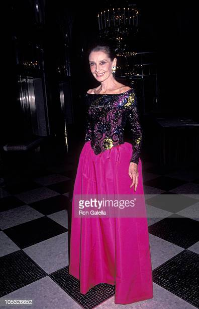 Audrey Hepburn during 8th Annual Night of Stars Fashion Festival at The Waldorf Astoria Hotel in New York City New York United States