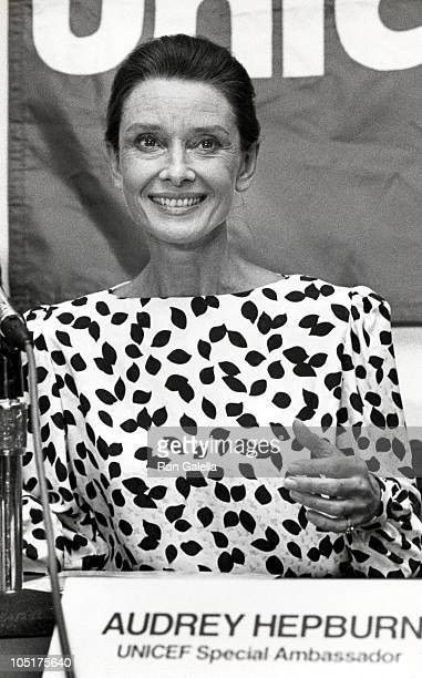 Audrey Hepburn during UNICEF Honors Audrey Hepburn at The Equitable Center in New York City New York United States