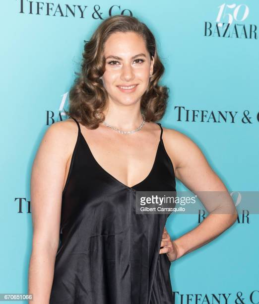 Audrey Hepburn granddaughter model Emma Kathleen Ferrer attends Harper's BAZAAR 150th Anniversary Event presented with Tiffany Co at The Rainbow Room...