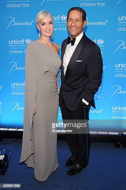 Audrey Hepburn Humanitarian Award recipient Hilary Gumbel and journalist Bryant Gumbel attend the Tenth Annual UNICEF Snowflake Ball at Cipriani Wall...