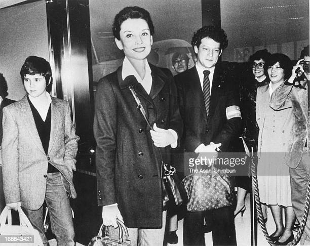 Audrey Hepburn is seen upon arrival at New Tokyo International Airport on March 27 1983 in Narita Chiba Japan Narita Airport is to mark 35th...