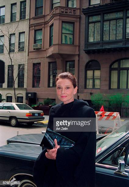 Audrey Hepburn on the street in the daytime circa 1990 New York