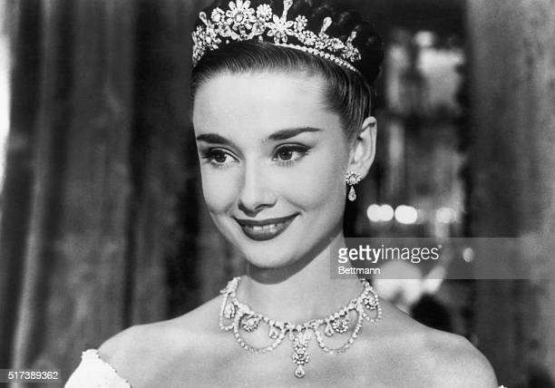 Audrey Hepburn plays Princess Ann in the motion picture Roman Holiday.