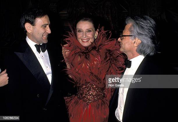 Audrey Hepburn Richard Avedon and during 8th Annual CFDA Awards January 9 1989 at Metropolitan Museum of Art in New York City New York United States