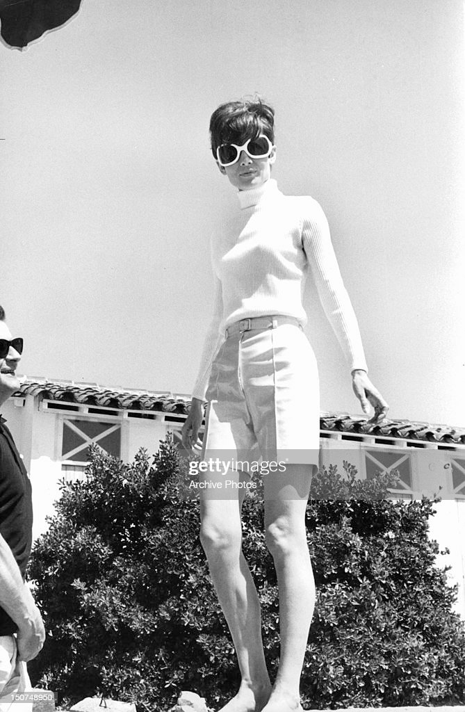 7bfd3b967f Audrey Hepburn wearing sunglasses in a scene from the film  Two For ...