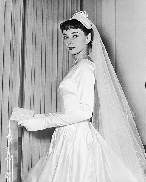 Audrey Hepburn In Her Wedding Gown Pictures | Getty Images