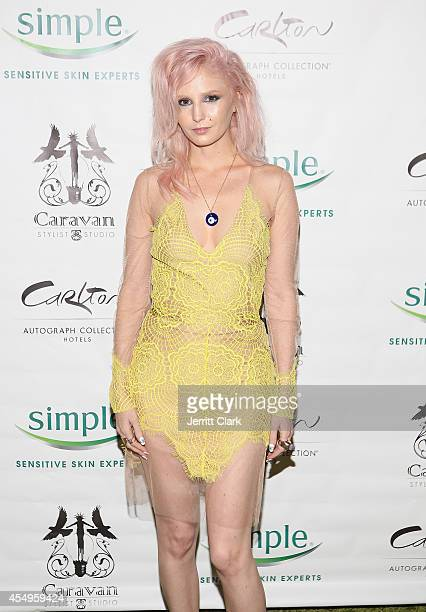 Audrey Kitching attends the Simple Skincare Caravan Stylist Studio Fashion Week Event on September 7 2014 in New York City
