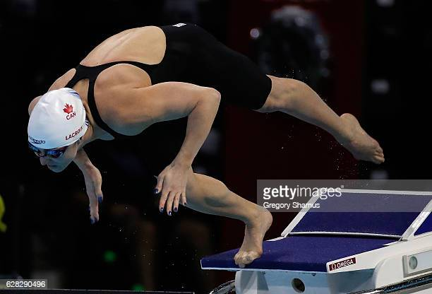 Audrey Lacroix of Canada competes in her preliminary heat of the 200m Butterfly on day two of the 13th FINA World Swimming Championships at the WFCU...