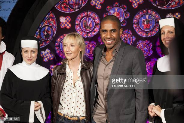 Audrey Lamy and guest attend Sister Act The Musical Gala Premiere at Theatre Mogador on September 20 2012 in Paris France