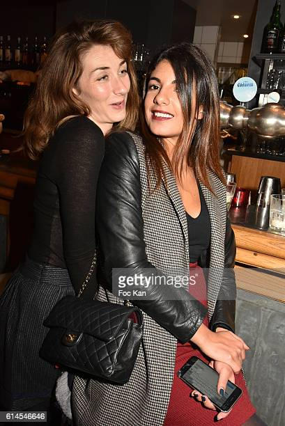 Audrey Le Bihan and Donia Eden attend Apero Milk Hosted by Grand Seigneurs Culinary Magazine at Bistrot le Marguerite on October 13 2016 in Paris...
