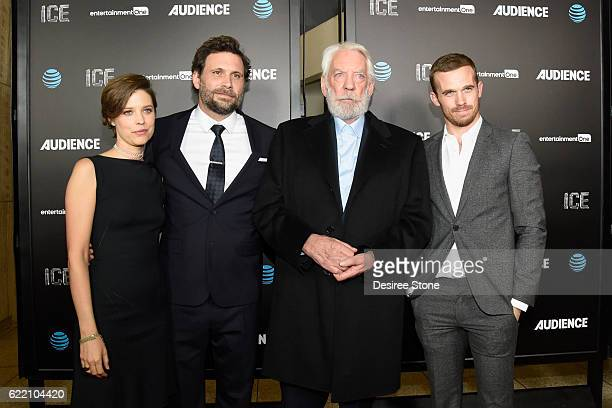Audrey Marie Anderson Jeremy Sisto Donald Sutherland and Cam Gigandet attend the premiere of Audience Network's Ice at ArcLight Cinemas on November 9...