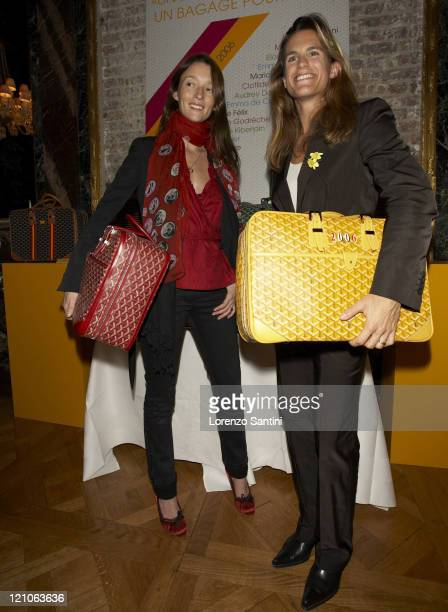 Audrey Marnay and Amelie Mauresmo during Auction of Goyard Handbags Designed by Celebrities for the 'Institut Curie' November 28 2006 at Baccarat...