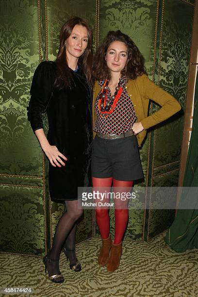 Audrey Marnay and Anna Klossowski de Rola attend the 'Loulou de la Falaise' book signing on November 5 2014 in Paris France