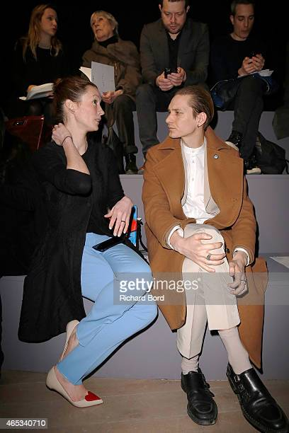 Audrey Marnay and Thomas Azier attend the Maiyet show as part of the Paris Fashion Week Womenswear Fall/Winter 2015/2016 on March 6 2015 in Paris...
