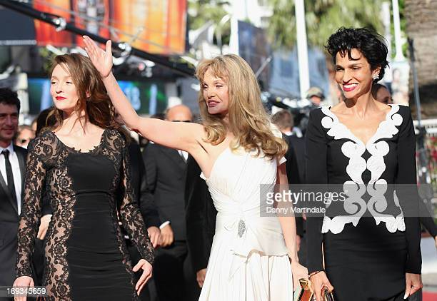 Audrey Marnay Arielle Dombasle and Farida Khelfa attend the Premiere of 'Nebraska' during the 66th Annual Cannes Film Festival at The Palais des...