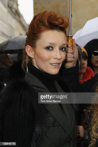 Audrey Marnay arrives at the Christian Dior show as part of the Paris Haute Couture Fashion Week Spring/Summer 2011 at Musee Rodin on January 24 2011...
