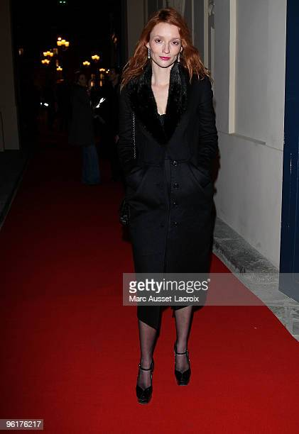 Audrey Marnay attends Etam After Show at Hotel D'Evreux on January 25 2010 in Paris France
