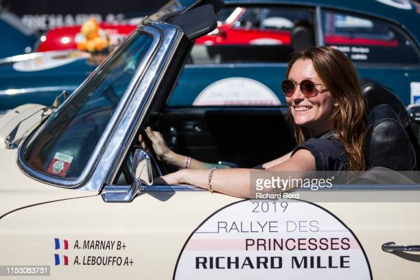 Audrey Marnay attends the 2019 Rallye des Princesses Richard Mille at Place Vendome on June 01 2019 in Paris France