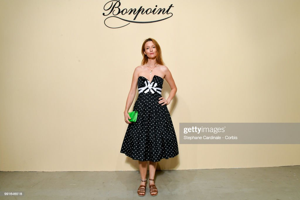 Audrey Marnay attends the Bonpoint Haute Couture Fall/Winter 2018-2019 show as part of Haute Couture Paris Fashion Week on July 4, 2018 in Paris, France.