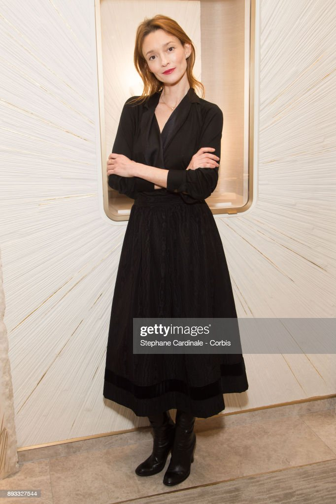 Audrey Marnay attends the Chaumet Boutique Re- Opening Rue Francois 1er at Rue Francois 1er on December 14, 2017 in Paris, France.