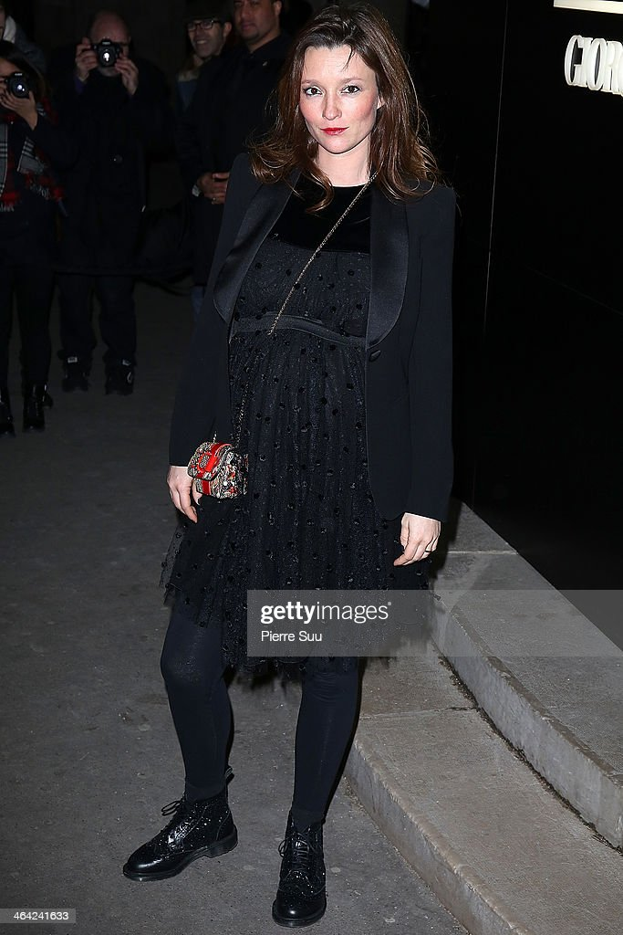 Audrey Marnay attends the Giorgio Armani Prive show as part of Paris Fashion Week Haute Couture Spring/Summer 2014 on January 21, 2014 in Paris, France.