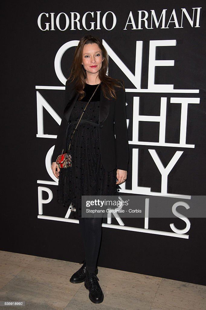 Audrey Marnay attends the Giorgio Armani Prive show as part of Paris Fashion Week Haute Couture Spring/Summer 2014, at Palais de tokyo in Paris.