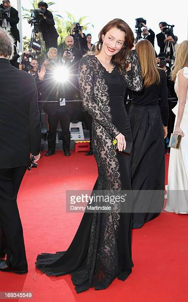 Audrey Marnay attends the Premiere of 'Nebraska' during the 66th Annual Cannes Film Festival at The Palais des Festivals on May 23 2013 in Cannes...