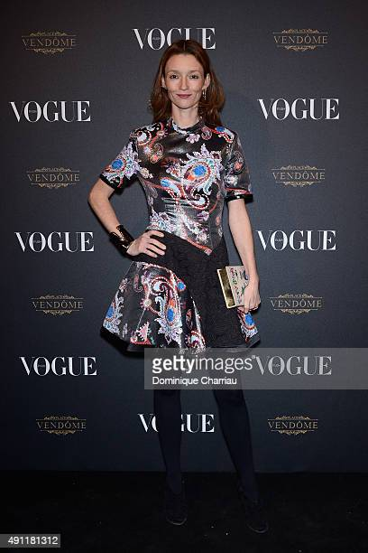 Audrey Marnay attends the Vogue 95th Anniversary Party Photocall as part of the Paris Fashion Week Womenswear Spring/Summer 2016 on October 3 2015 in...