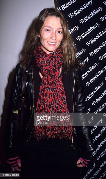 Audrey Marnay during Blackberry Pearl Mobile Launch Party October 25 2006 at Musee Art Moderne in Paris France