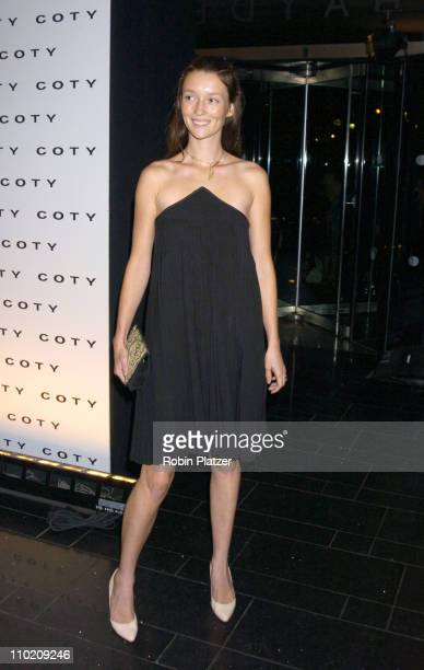 Audrey Marnay during The 100th Anniversary of Coty at American Museum of Natural Historys Rose Center for Earth in New York New York United States