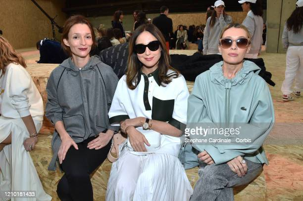 Audrey Marnay Elsa Zylberstein and Anne Marivin attend the Lacoste show as part of the Paris Fashion Week Womenswear Fall/Winter 2020/2021 on March...