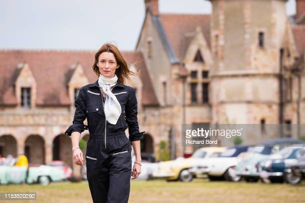 Audrey Marnay is seen during the Rallye des Princesses Richard Mille at Chateau de la Crete on June 03 2019 in Audes France