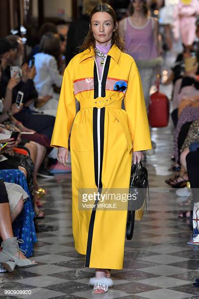 Audrey Marnay walks the runway during the finale of the Miu Miu 2019 Cruise Collection Show at Hotel Regina on June 30 2018 in Paris France