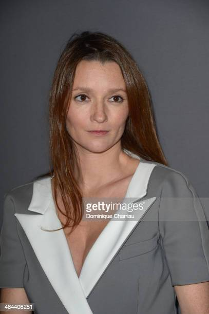 Audrey Marney attends the ViktorRolf show as part of Paris Fashion Week Haute Couture Spring/Summer 2014 on January 22 2014 in Paris France
