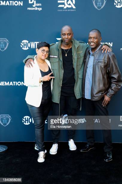 """Audrey Montoya, Kyle Townsend, and Floyd """"Flip"""" Wilcox attend The One And Only, Dick Gregory, Album Release Event on September 16, 2021 in Burbank,..."""