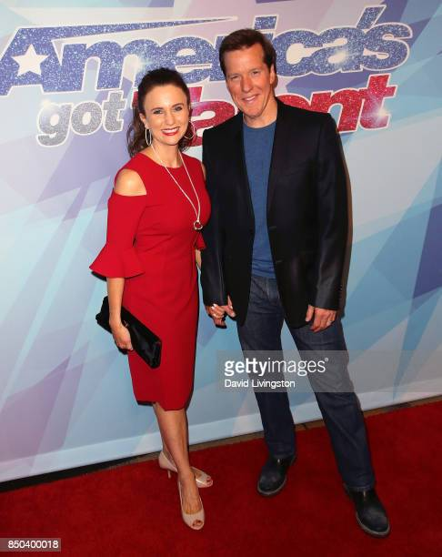 Audrey Murdick and husband ventriloquist Jeff Dunham attend NBC's America's Got Talent season 12 finale at Dolby Theatre on September 20 2017 in...