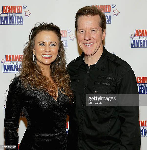 Audrey Murdick and Jeff Dunham attend the Achmed Saves America World Premiere at The Grove on March 18 2014 in Los Angeles California