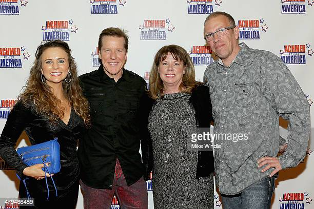 Audrey Murdick Jeff Dunham Judi BrownMarmel and Steve Marmel attend the Achmed Saves America World Premiere at The Grove on March 18 2014 in Los...