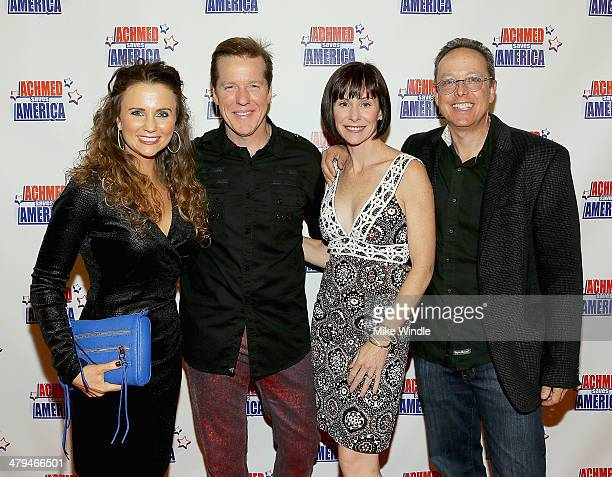 Audrey Murdick Jeff Dunham Susan Egan and Robert Hartmann attend the Achmed Saves America World Premiere at The Grove on March 18 2014 in Los Angeles...