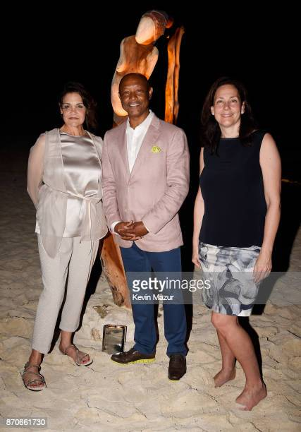 Audrey Oswell Antonius Roberts and Andrea Balkan attend the weekend opening of The NEW ultraluxury Cove Resort at Atlantis Paradise Island on...