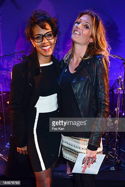 Audrey Pulvar and Audrey Ithurbide attend the 'Amants D'Un Jour' Musical Comedy Show Case At the Bobino on March 25 2013 in Paris France