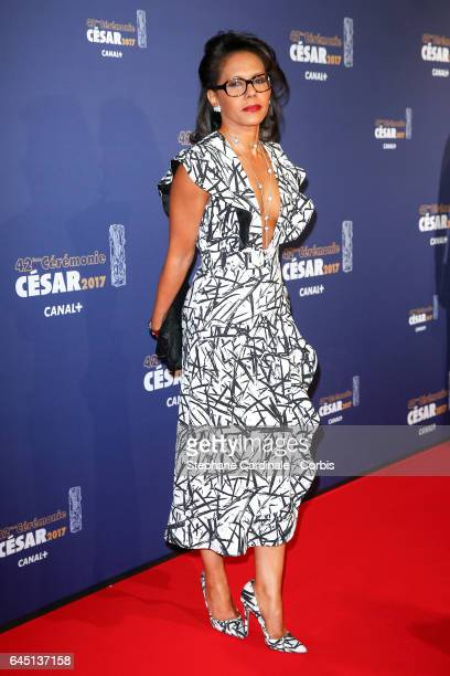 Audrey Pulvar arrives at the Cesar Film Awards 2017 ceremony at Salle Pleyel on February 24 2017 in Paris France