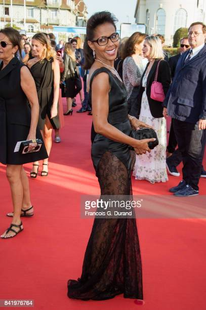 Audrey Pulvar arrives for the screening of the film 'Good Time' during the 43rd Deauville American Film Festival on September 2 2017 in Deauville...