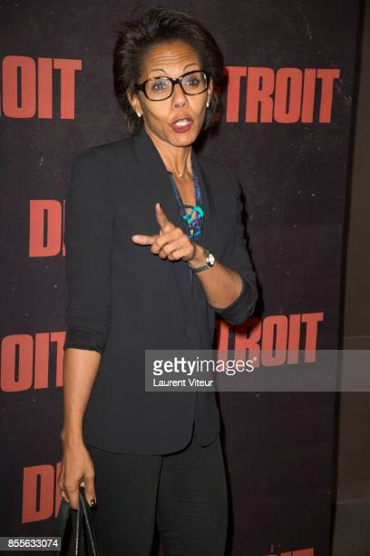 Audrey Pulvar attends 'Detroit' Paris Premiere at Cinema UGC Normandie on September 29 2017 in Paris France