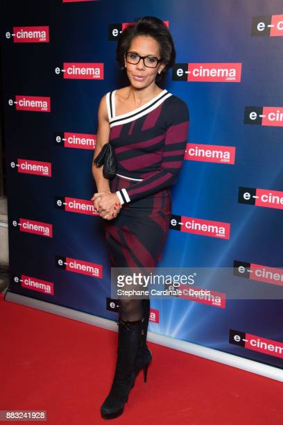 Audrey Pulvar attends ecinemacom Launch Party at Restaurant L'Ile on November 30 2017 in IssylesMoulineaux France