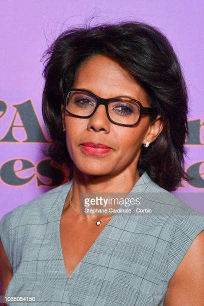 Audrey Pulvar attends L'amour Est Une Fete Paris Premiere at Cinema Max Linder on September 17 2018 in Paris France